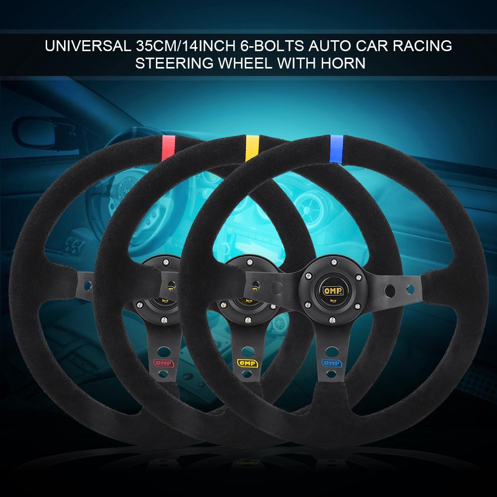 Acouto Car Horn Button,Universal Modified Car Steering Wheel Horn Button