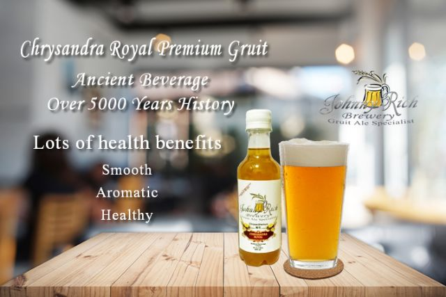 3 Bottle Chrysandra Royal Premium Gruit 350 ml - Traditional Ancient Beverage With Lots of Health Benefits