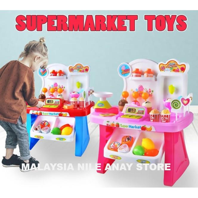READY STOCK🌹 ALAT PERMAINAN SUPER MARKET / SUPERMARKET TOYS/ ALAT PERMAINAN BUAH=BUAHAN SAYURAN