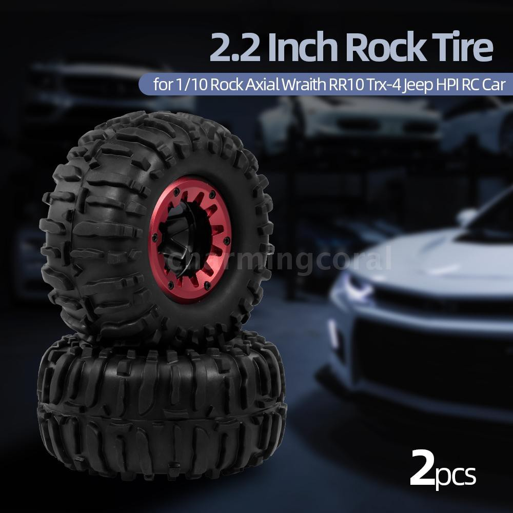 4 Pcs RC Wheel Tyre Rubber Tires for 1//10 Scale Model Crawler Cars Dilwe RC Car Tyre