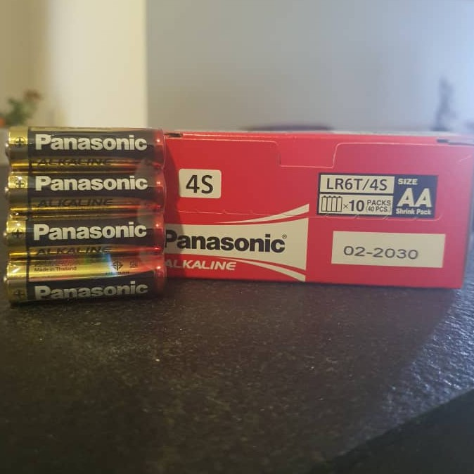 Panasonic Alkaline AA Battery LR06T/4B (40pcs/pack)