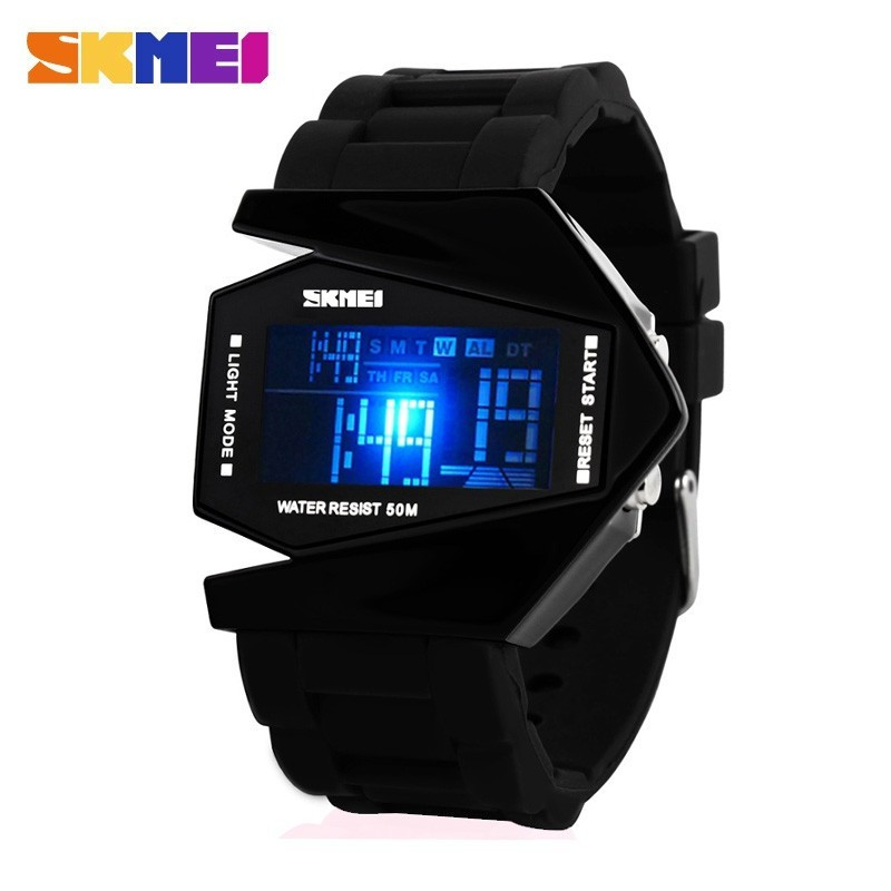Hot Sale Swim Sports Watch 50m Waterproof Male Watches Japan Quartz Clock Electronic Display Outdoor Product Fashion Color Men Skmei 1016 Bright Luster Watches