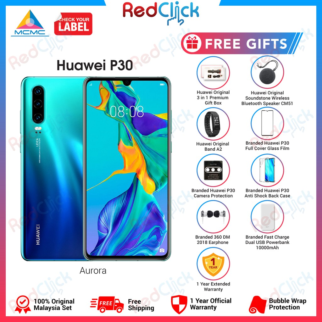 Huawei P30 (8GB/128GB) + 8 Free Gift Worth RM499