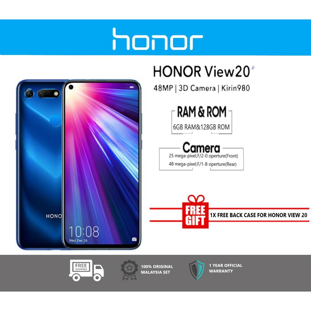 Honor View 20 [6GB RAM+128GB ROM] - Original Malaysia Set - Free