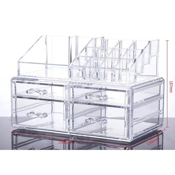 [ READYSTOCK ]  Acrylic Multi Function Transparent Drawer Cosmetic Jewelry Box Storage Makeup Simpanan Jualan Murah
