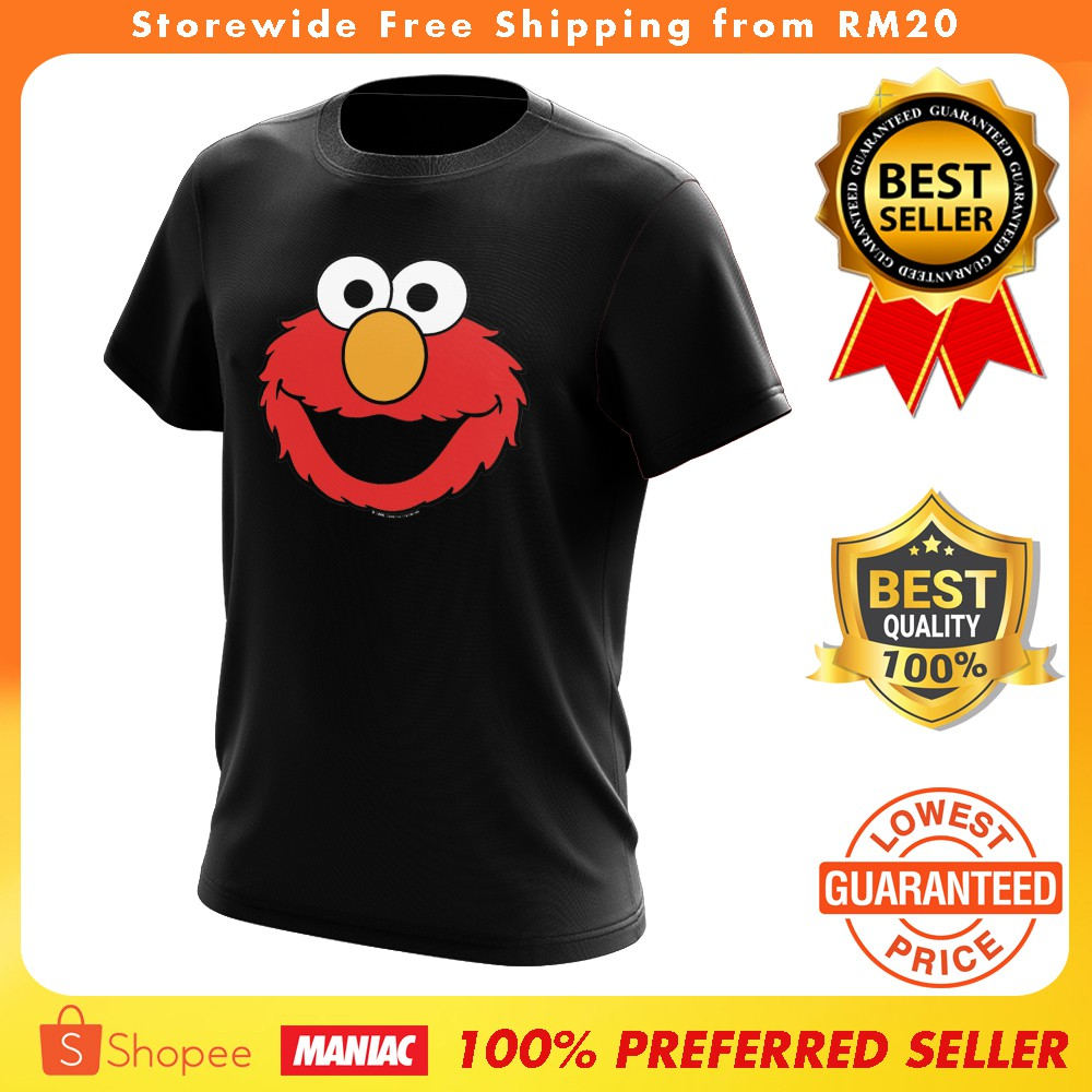 f0dca8073850e Elmo Sesame Street Tshirt Unisex 100% High Quality Cotton Tee
