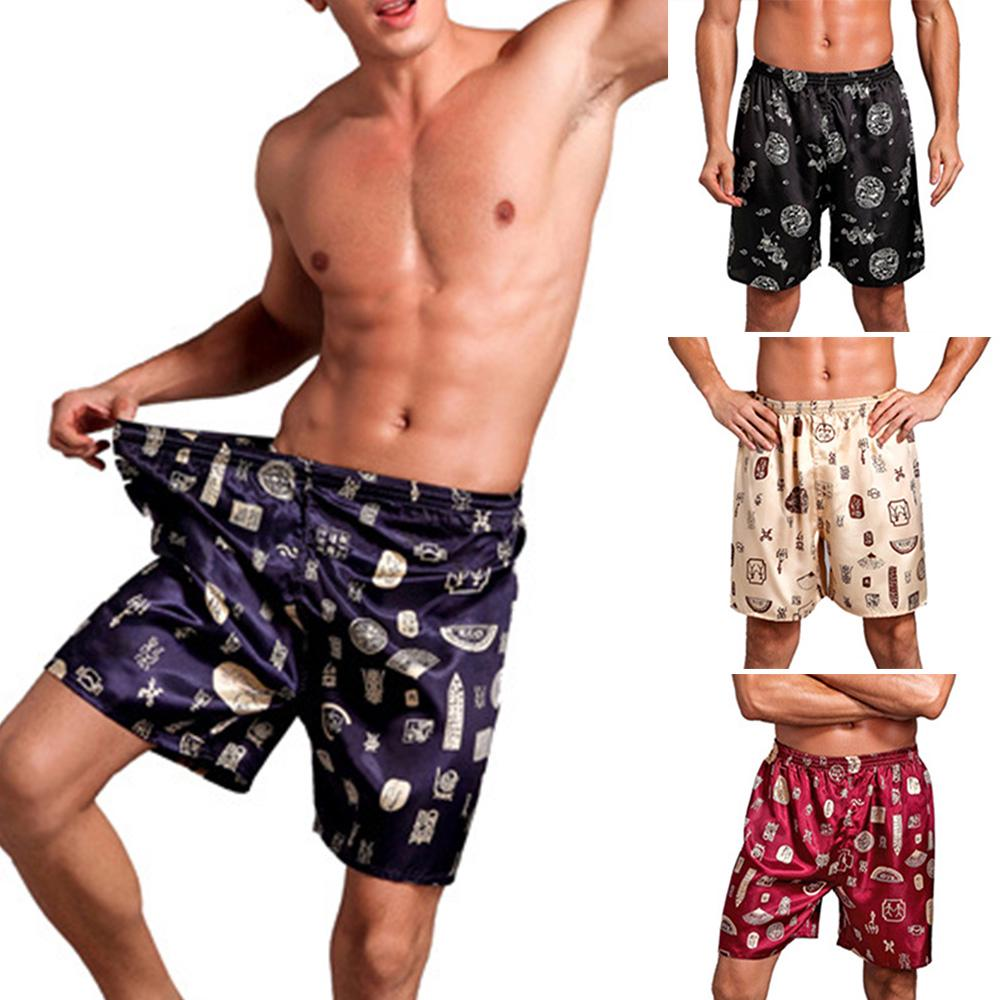 Men's Sleep & Lounge Good Summer Sexy Mens Sleep Bottoms 100% Cotton Sleep&lounge Striped Shorts Men Cofy Sleepwear Male Short Lounge Plus Xxxxl Homewear 50% OFF