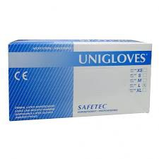 UNIGLOVES LATEX GLOVE POWDERED S / M / L / XL 100's