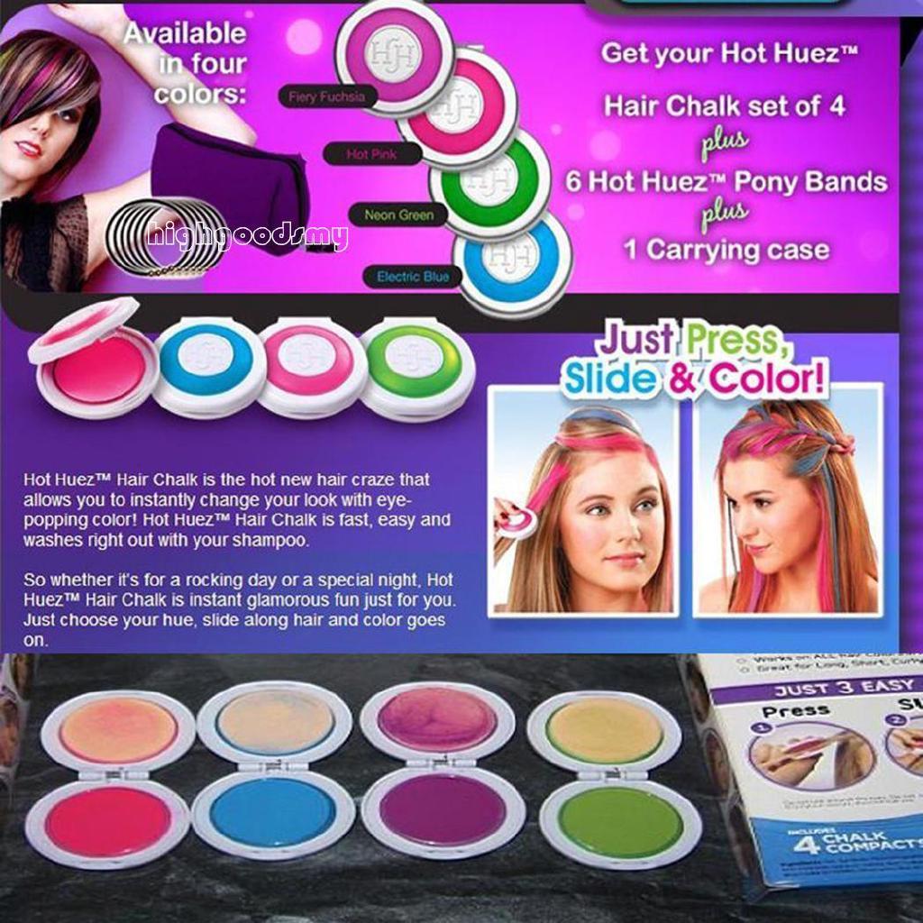 Hi Women Temporary Hair Color Powder Dye Wash Out Chalk Hair Diy