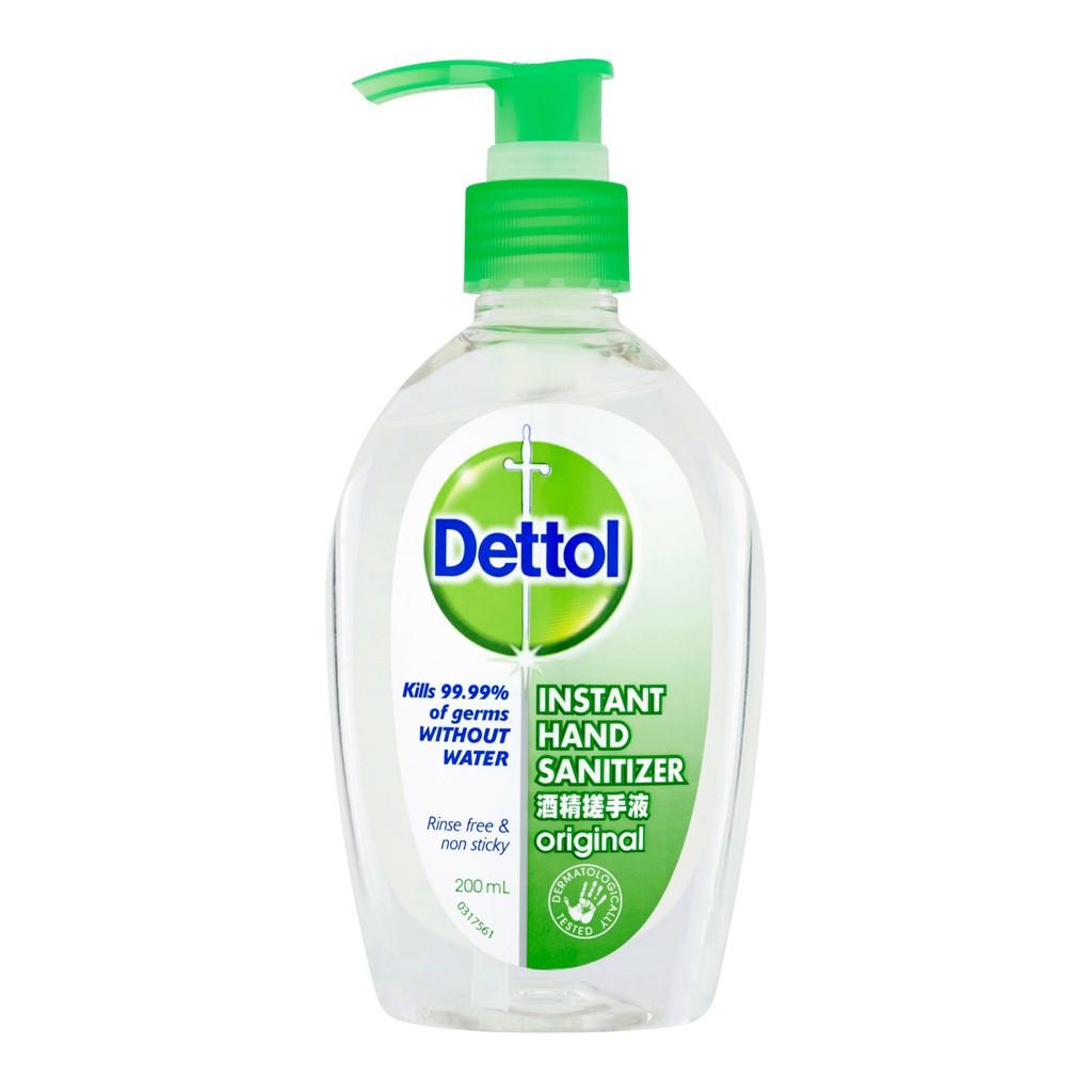 Dettol Instant Hand Sanitizer Original 200ml (cap)