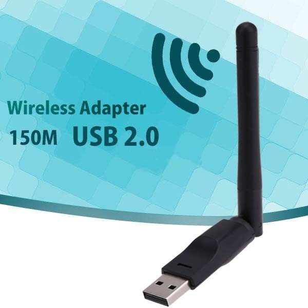(New)150Mbps USB 802 11n Wi-Fi Ethernet Wireless Adapter Card with 2dbi  Antenna