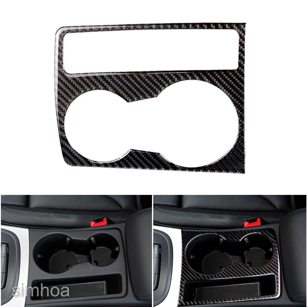 MagiDeal Carbon Fiber Cup Holder Decorative Cover Sticker Audi A5 A4 B8 2009-2015