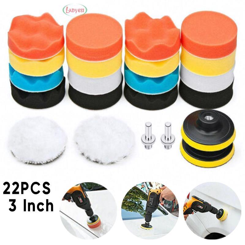 "3/"" 76mm Universal Soft Buffing Buffer Ball Pads Set For Car Polishing Tool"