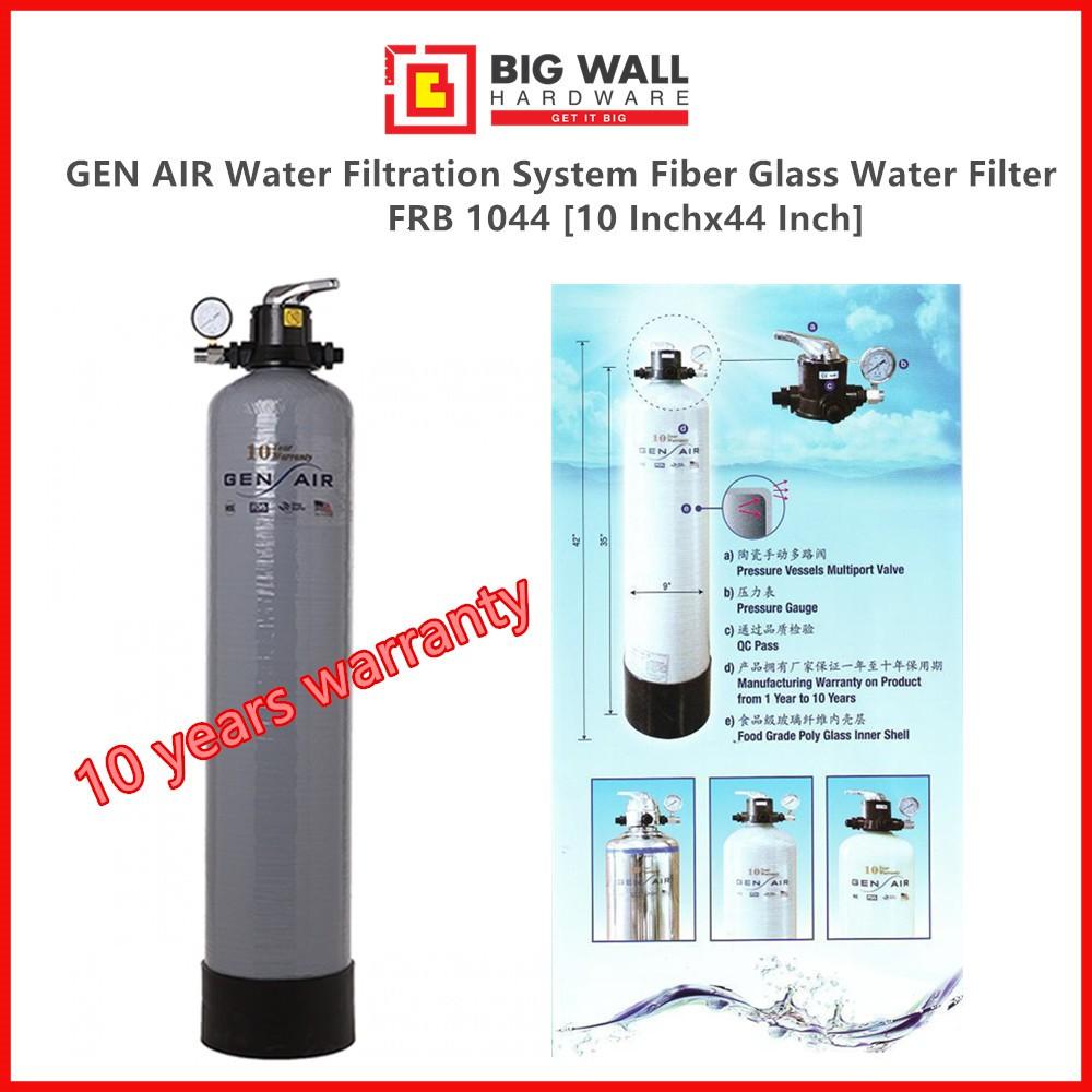 Gen Air Outdoor FRP Fiber Water Glass Filter FRB 1044 [10 Inch] Penapis Air (Big Wall Hardware)