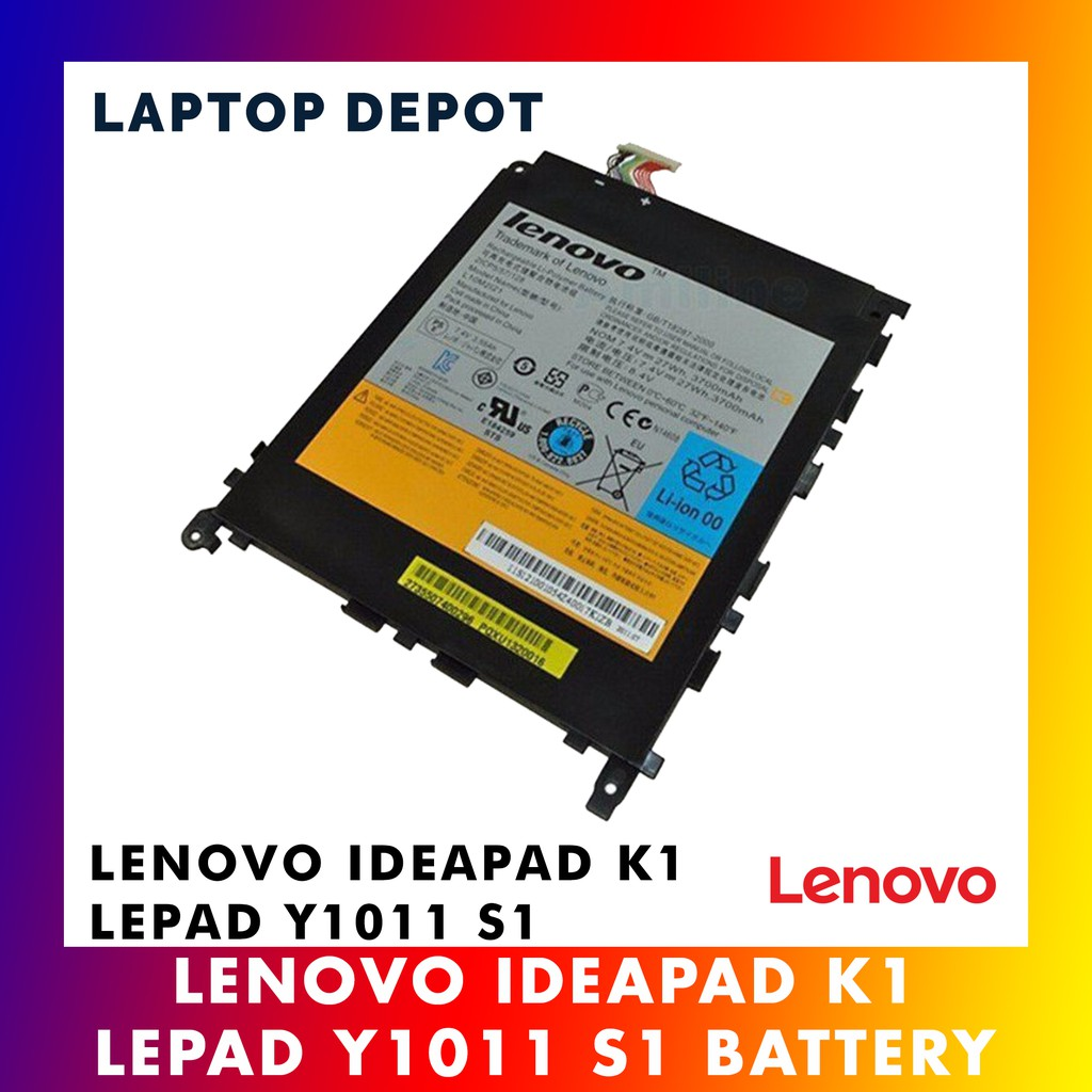 [100% ORIGINAL] Lenovo Tablet IdeaPad K1 LePad Y1011 S1 L10M2121 Series  Battery