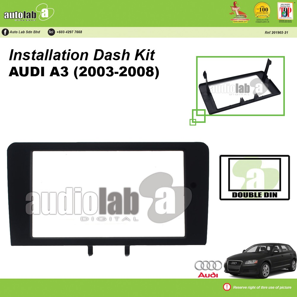 Player Casing Double Din Audi A3 (2003-2008)