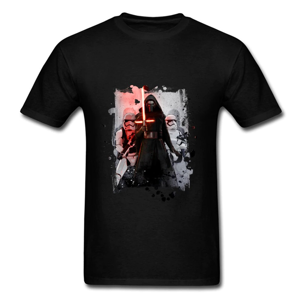Star Wars Stormtroopers and Kylo Ren Youth Boys Brown Short Sleeve Graphic Tee