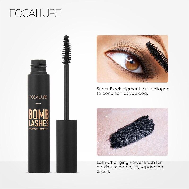 FOCALLURE Professional 3D Black Volume Curling Makeup Waterproof Thick Lengthening Eyes Beauty Makeup
