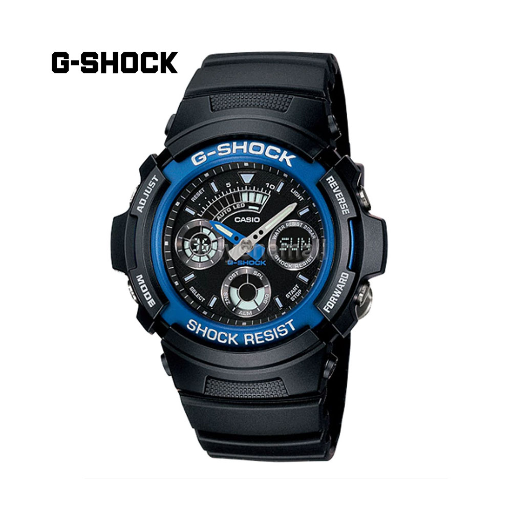 Casio G-Shock AW591-2A-29 Ana-Digi Chronograph Shock Resistant Sport Watch
