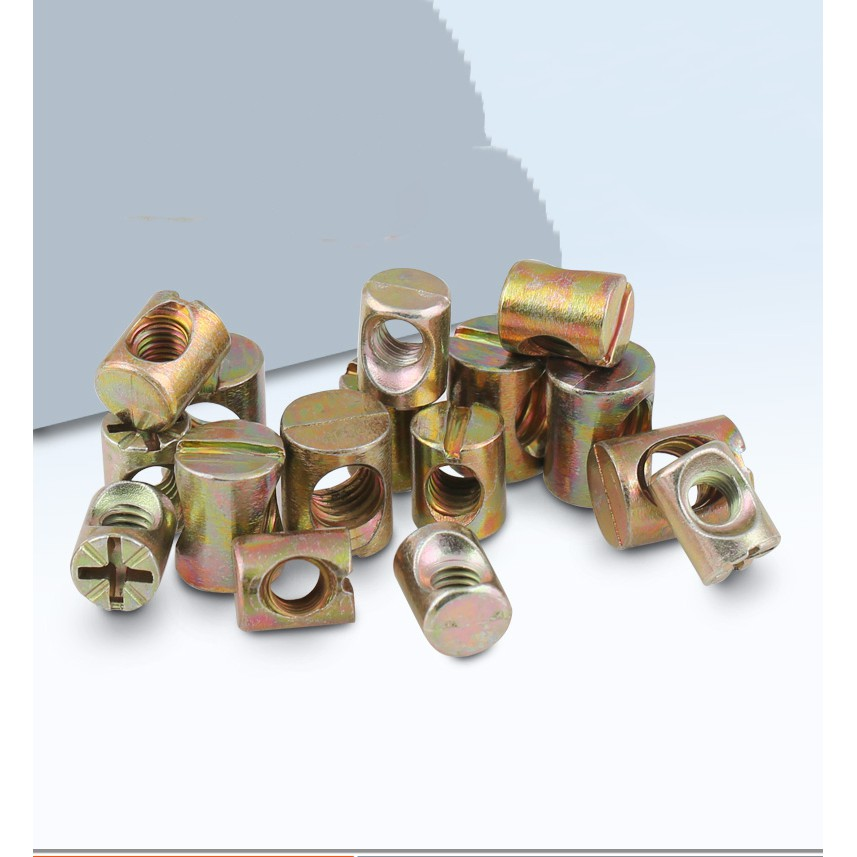 10 pcs Carbon Steel Furniture Bolts with Barrel Nuts Dowel Nut Connector Fastener,Carbon Steel Hex Socket Head Cap Screws 90mm