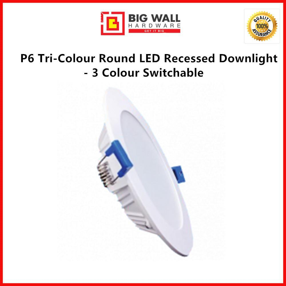 Perfect One P6 Tri-Colour Round LED Die-Casting Downlight - 3 Colour Switchable Available in 12W & 18W (Square & Round)