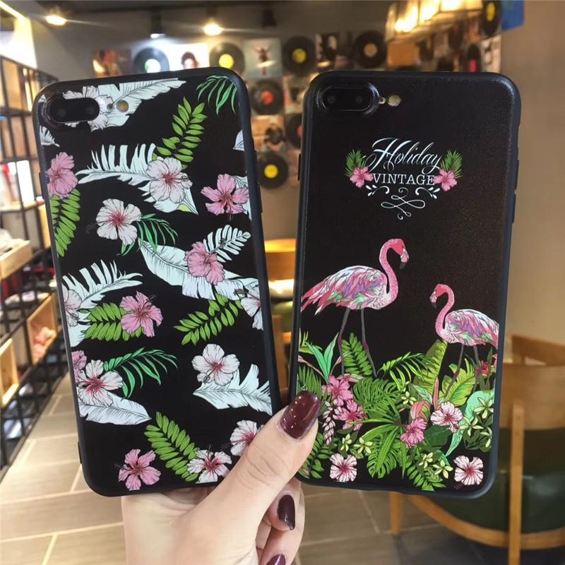 YSW VIVO V3 Y51 Y55 Y65 Y66 Y67 Y53 Y69 Y71 Y81 Y91 Floral Flamingo Phone Casing