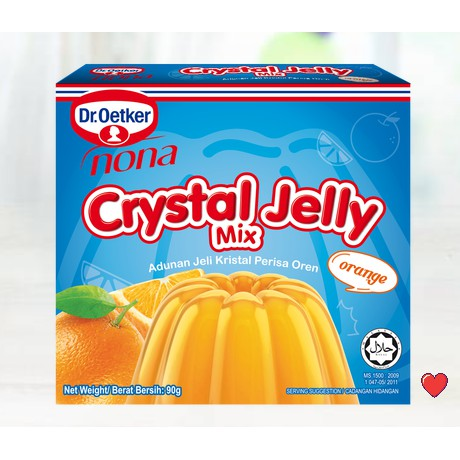 Dr.Oetker Nona Crystal Jelly Mix ~ Orange Flavour 90g  ( Free Fragile + Bubblewrap Packing )