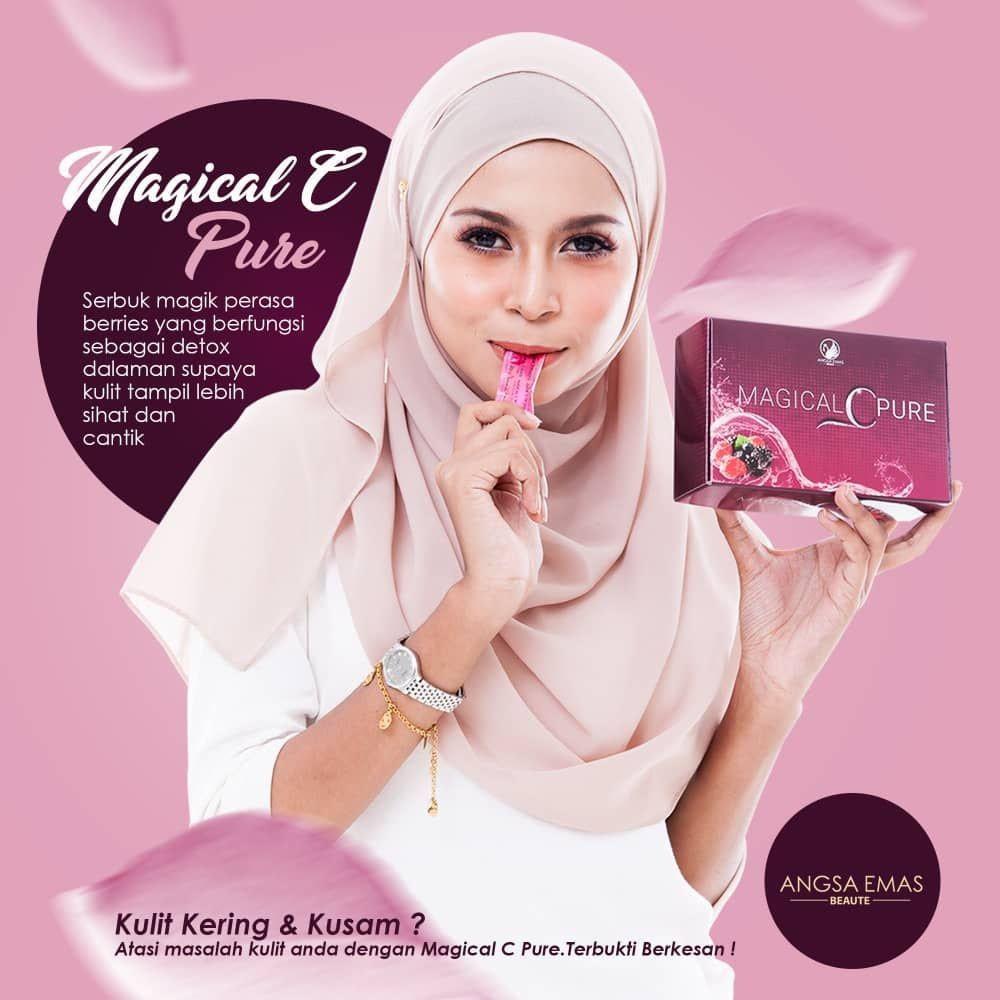 MAGICAL C PURE 3BOX EXTRA GLOW 15SACHET X 2GRAM 100% ORIGINAL HQ+FREEGIFT