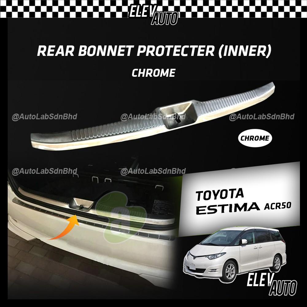 Toyota Estima ACR50 Rear Bonnet Protector Guard Chrome (Inner)