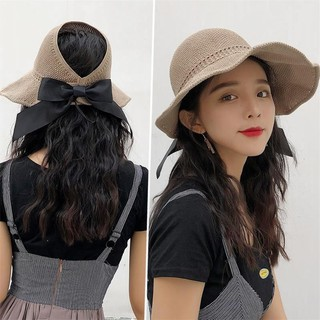 49a1e147 New Visors Hat Foldable Sun Hat Wide Large Brim Beach Hats for Women Straw  Hat   Shopee Malaysia