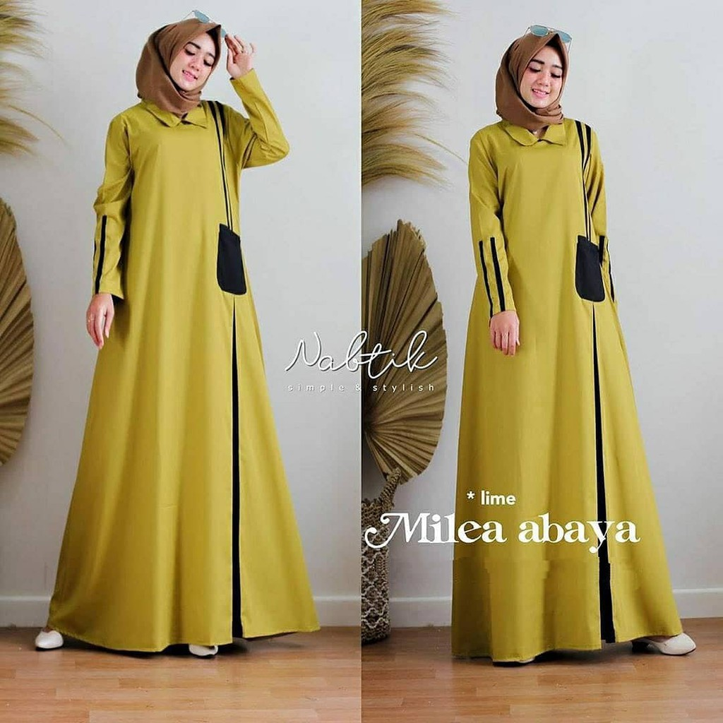 Milea Abaya Long Dress for Women / Pay in Place (COD) / Gamis for Women /  Gamis Shari / Gamis for Teenagers