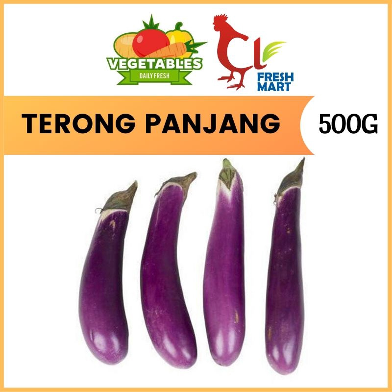 Terong Panjang / Long Eggplant (500g) Fresh Selected