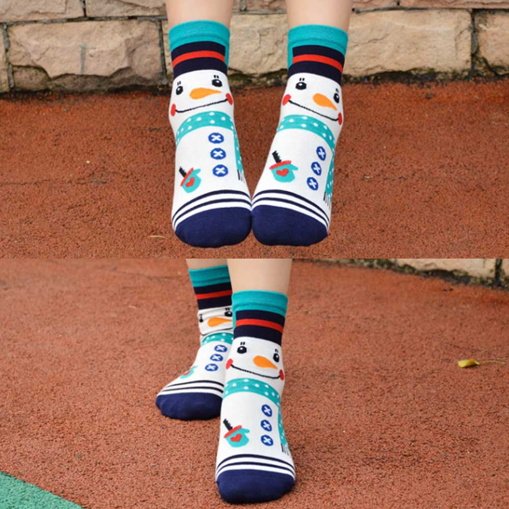 Cartoon Animal Cute Moose Womens Knee High Socks Winter Warm Boot Socks Tube Stockings