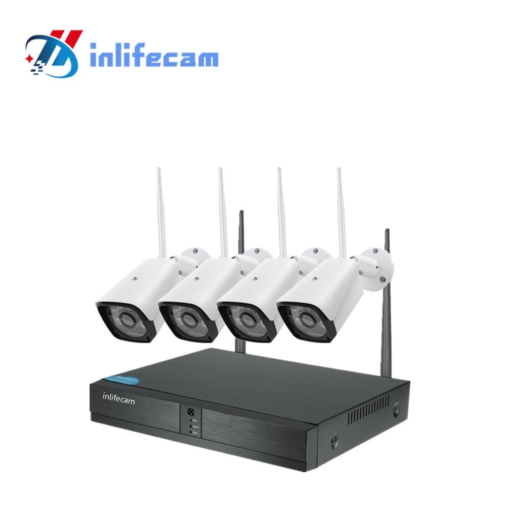 4ch 1080P XMeye app Wireless NVR Security Surveillance System Wifi Ip Kit