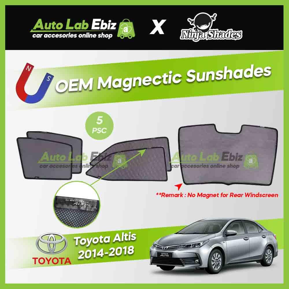 Toyota Altis 2014-2018 11th Gen Ninja Shades OEM Magnetic Sunshade (5pcs)