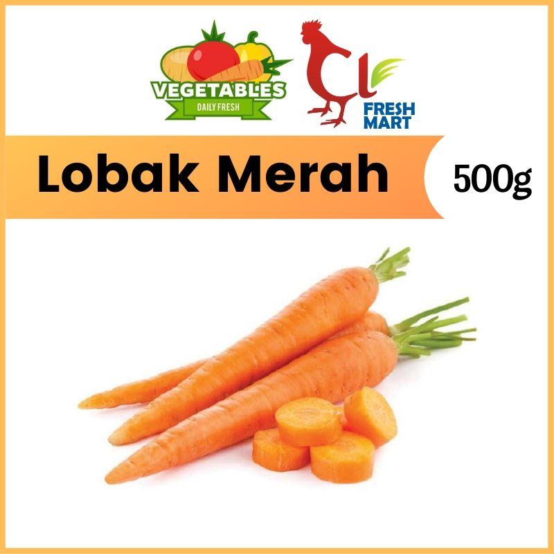 Lobak Merah / Carrot (500g) Fresh Selected Vegetable