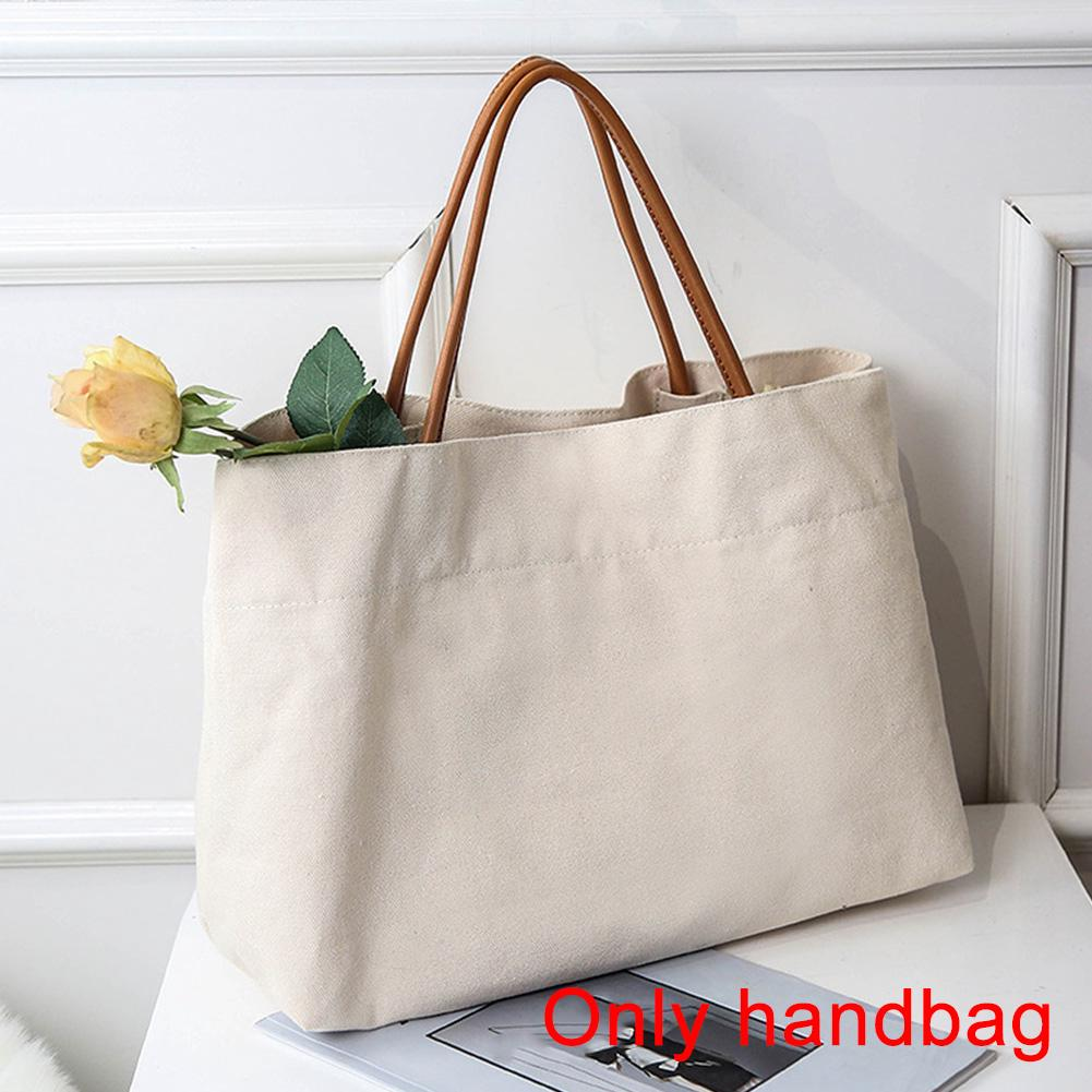 15cba77de9 Tote All-Match Women Canvas Solid Shoulder Bag Large Capacity Casual  Shopping | Shopee Malaysia