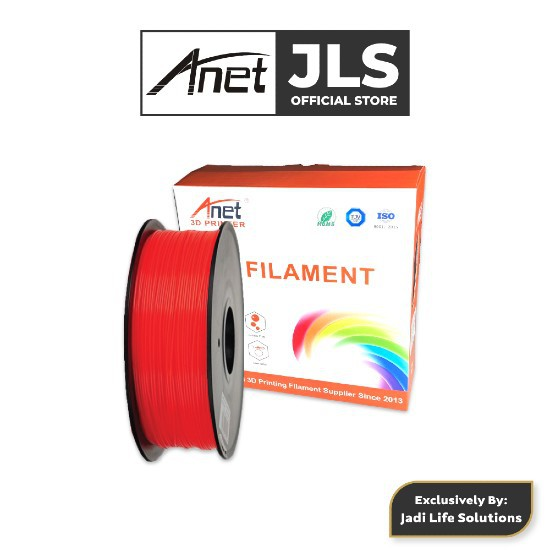 Anet 340M 1.75mm PLA 3D Printing Filament Biodegradable Material - Red