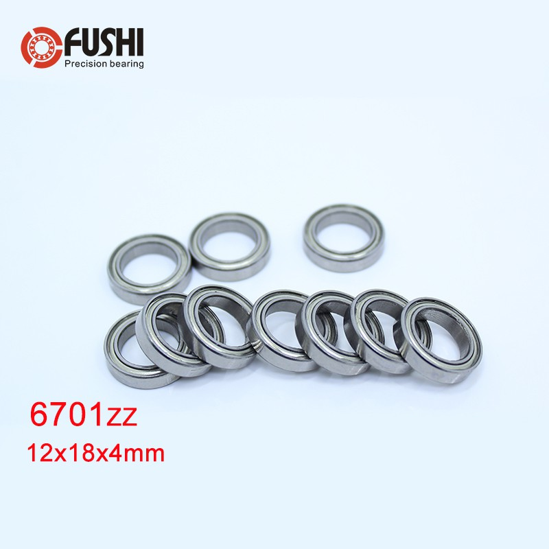 12x18x4 mm 6701ZZ Metal Shielded Ball Bearing Bearings 12*18*4 6701z 5 PCS
