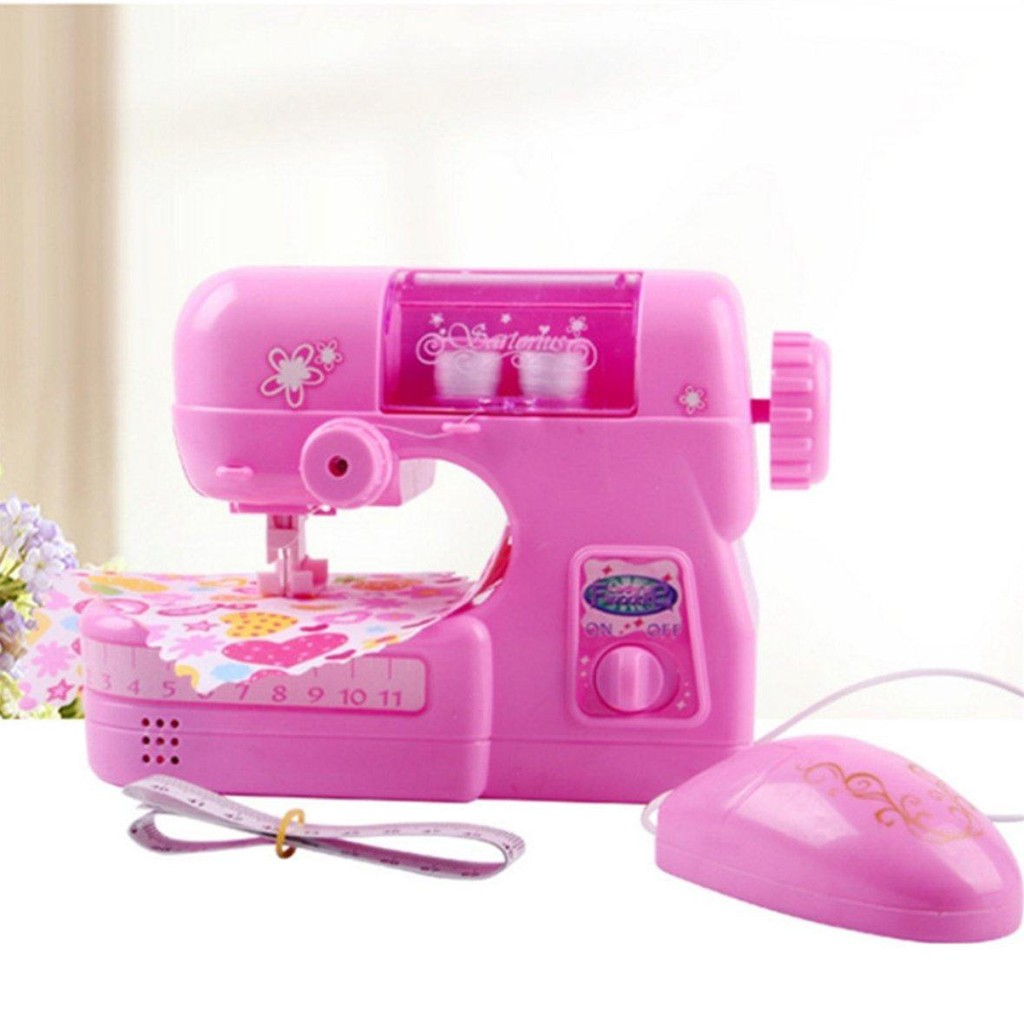 BATTERY OPERATED ELECTRIC TOY SEWING MACHINE PRETEND PLAY SET FOR KIDS AND GIRL