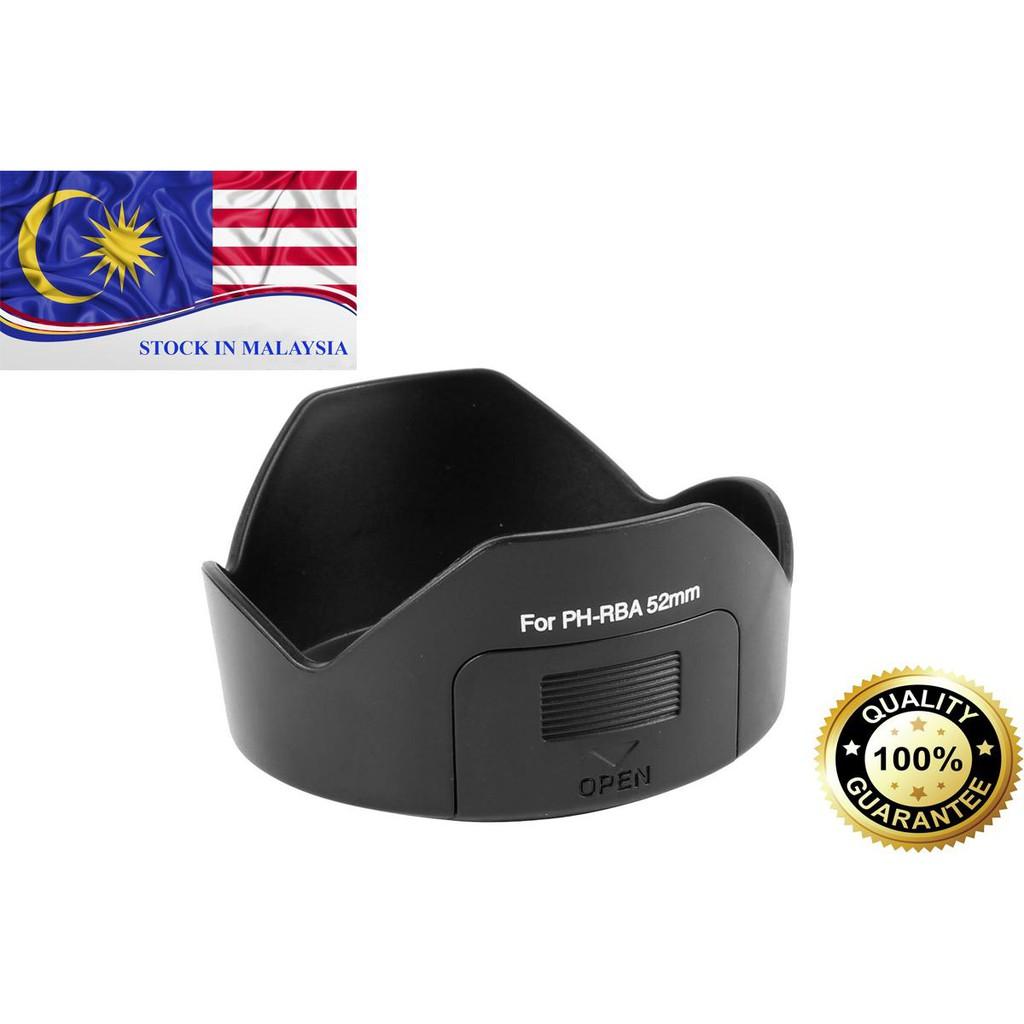 PH-RBA 52mm Lens Hood For Pentax K-r K-m K-x DA 18-55mm F3.5-5.6 AL II (Ready Stock In Malaysia)