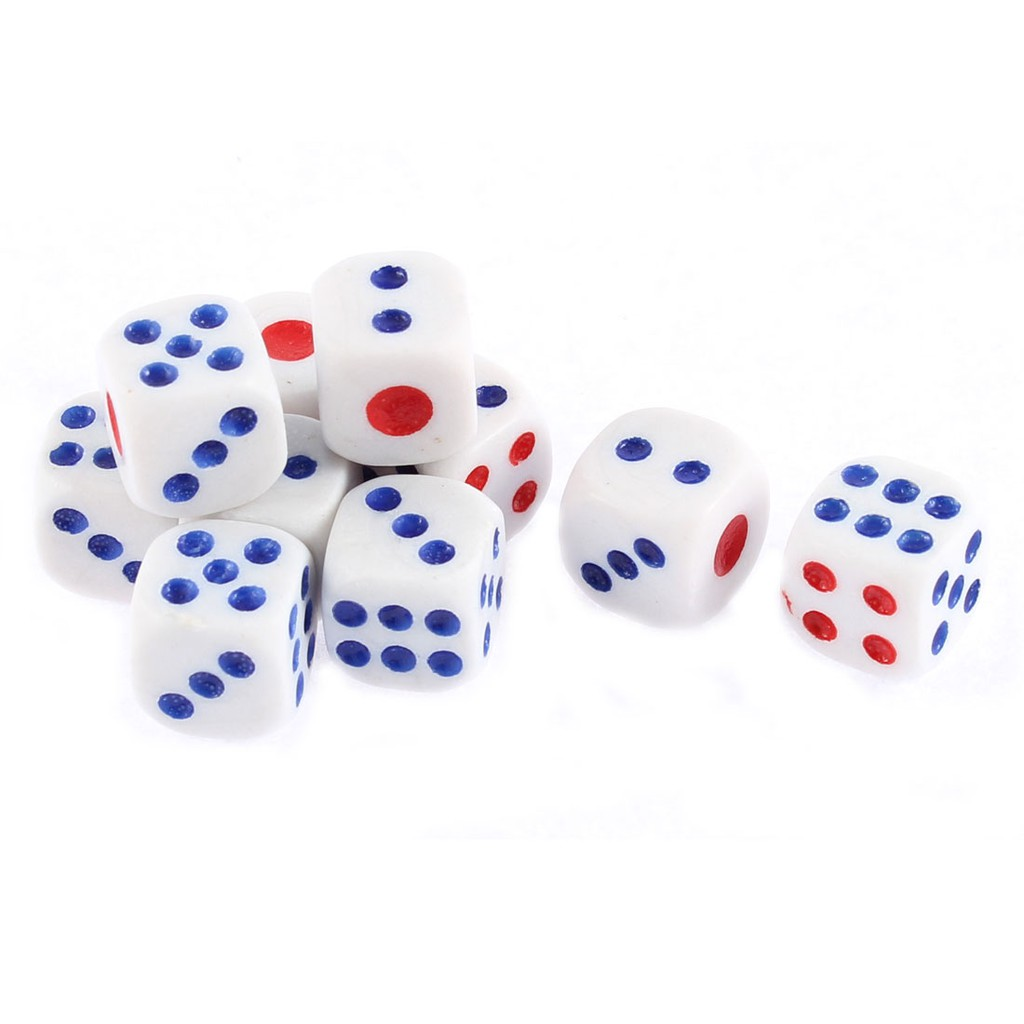 Ready Stock White Dice 10mm Game Playing Board Game Local