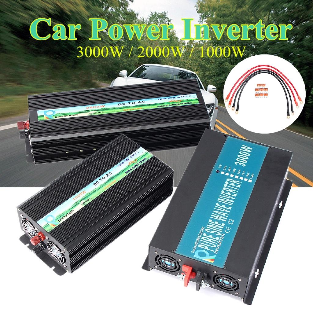 🔌5000W Solar Power Inverter LED Sine Wave Converter 12v/24V DC to