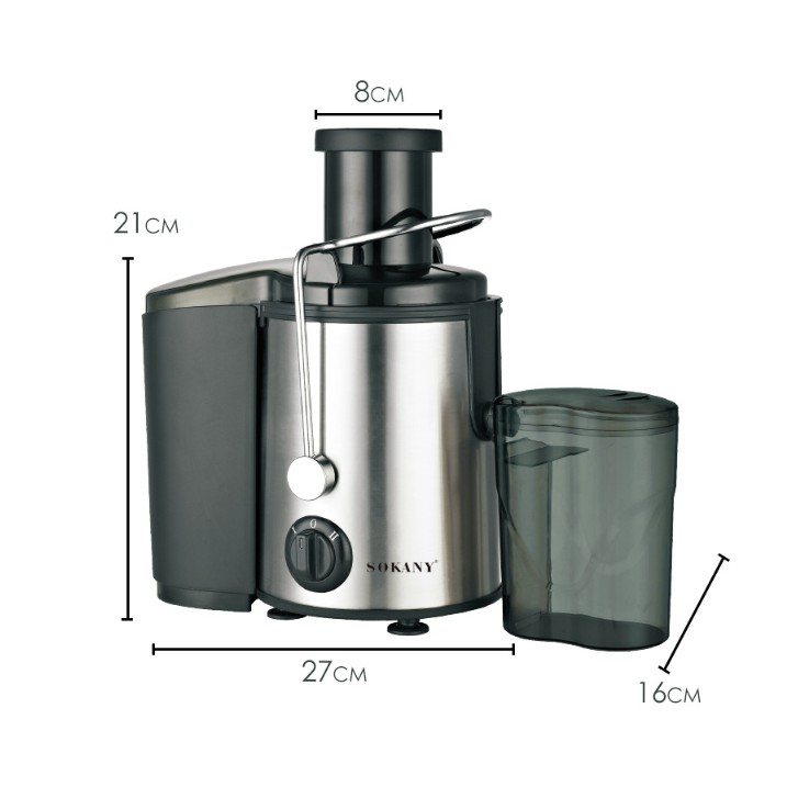 MALAYSIA HR] 800 W PENGISAR JUZ POWERFUL / Sokany Stainless Steel Electric Juicer Extractor (SK4000)