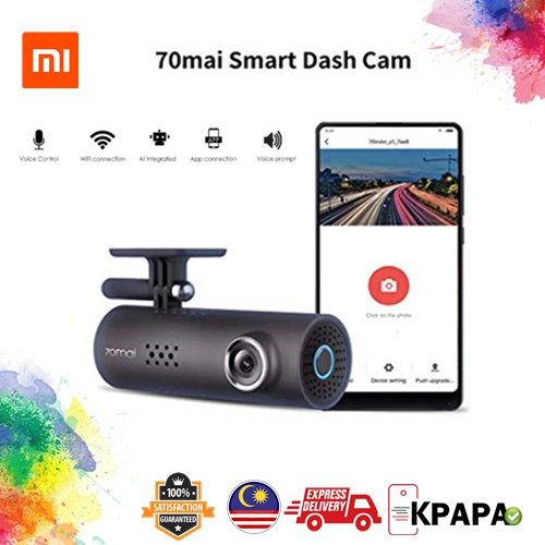 XiaoMi 70mai Minutes Smart WIFI Car DashCam DVR Camera 1080p