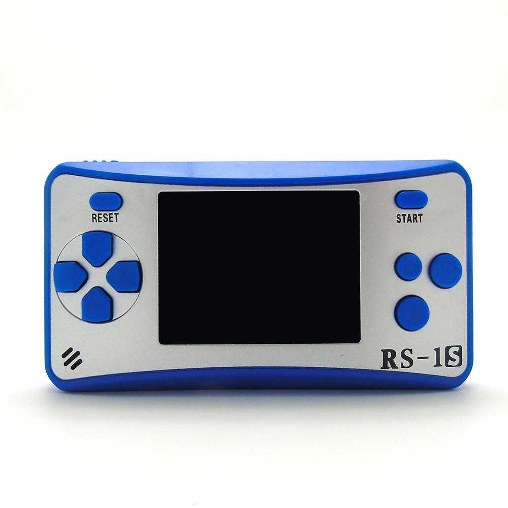 Portable Game Console 8 Bit Retro Handheld Game Player Built-in 168 Classic Games - Blue (Blue)