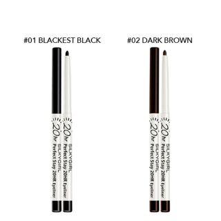 SILKYGIRL 20HR PERFECT STAY 20HR EYELINER 1 PIECE (01 BLACKEST BLACK/ 02  DARK BROWN) | Shopee Malaysia