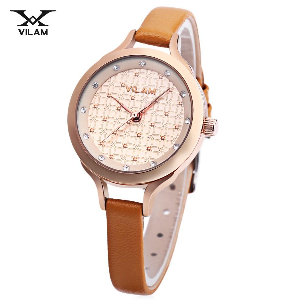 WeiQin W4164L Female Quartz Watch 3ATM Artificial Diamond Dial Hardlex Mirror | Shopee Malaysia