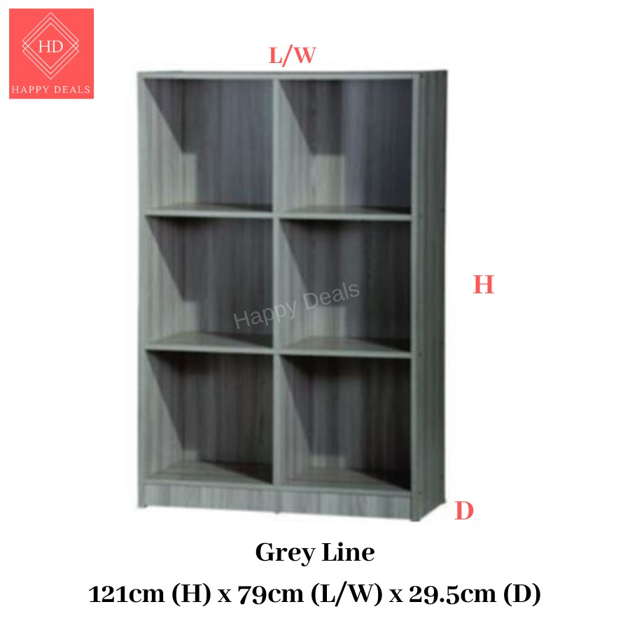 DIY Premium Multipurpose Multi-compartments Storage Cabinet/ File Cabinet/ Rak Buku/ Rak Simpanan 书橱 储物柜 衣橱 (SU 831)