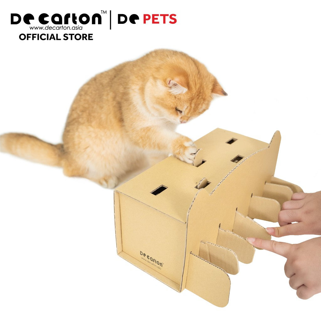 De Carton Cardboard Whack-A-Paw Cat Toy (Mainan kucing- Whack-A-Paw)